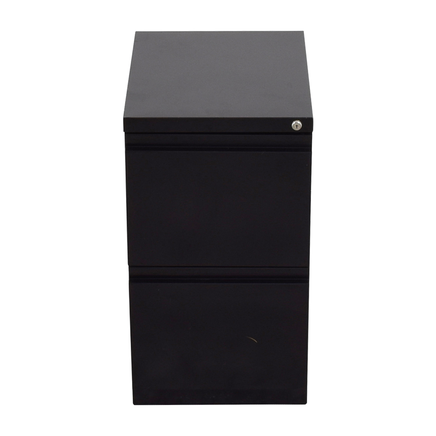 Staples 2-Drawer Mobile Pedestal File Cabinet / Storage