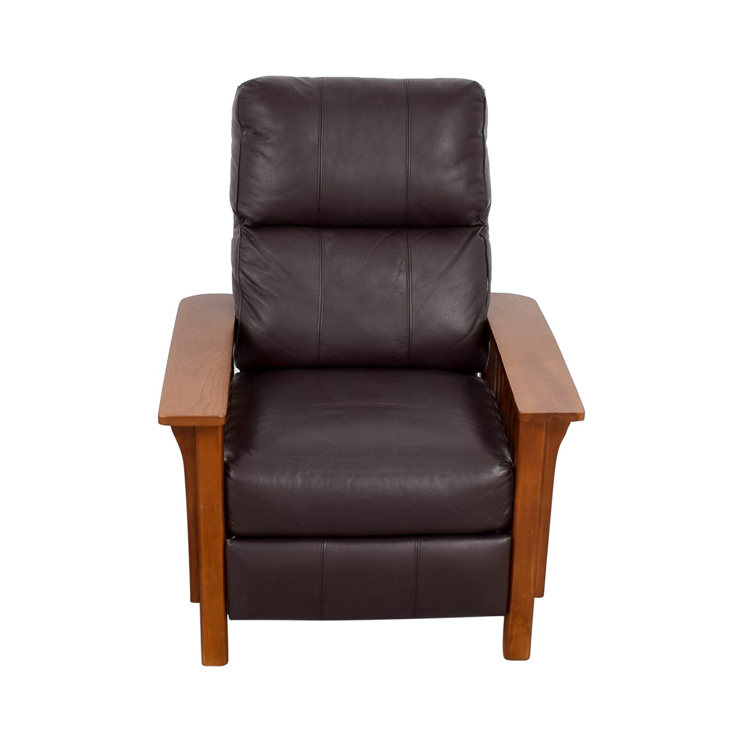 ... Macyu0027s Harrison Brown Leather Pushback Recliner / Recliners ...  sc 1 st  Furnishare & 47% OFF - Macyu0027s Macyu0027s Harrison Brown Leather Pushback Recliner ... islam-shia.org