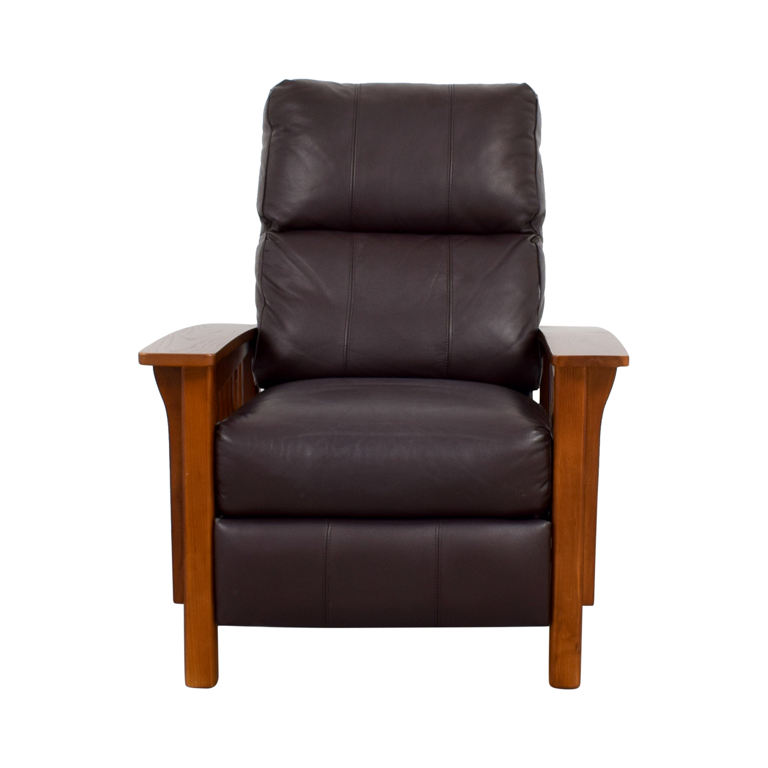 Macys Macys Harrison Brown Leather Pushback Recliner