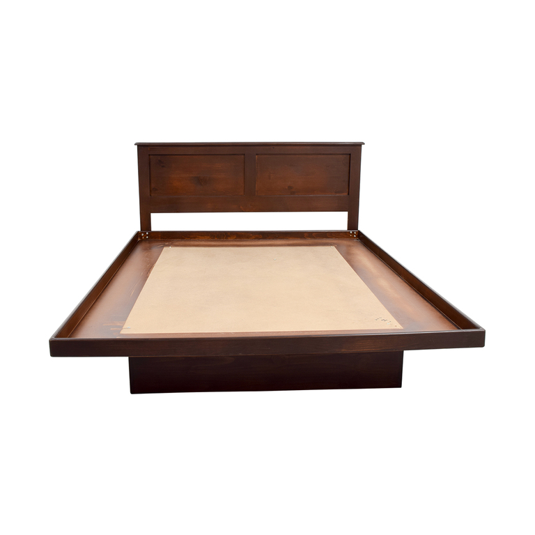 Gothic Cabinet Craft Wood Platform Bed sale