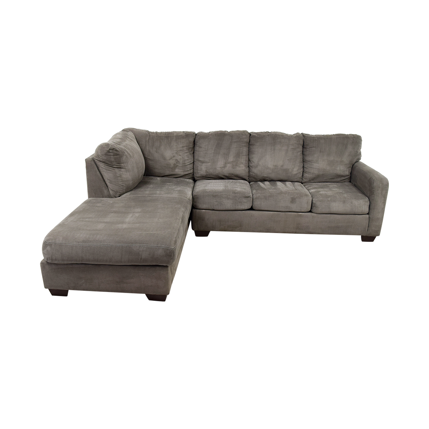 Living Spaces Living Spaces Zella Charcoal Chaise Sectional Sofas