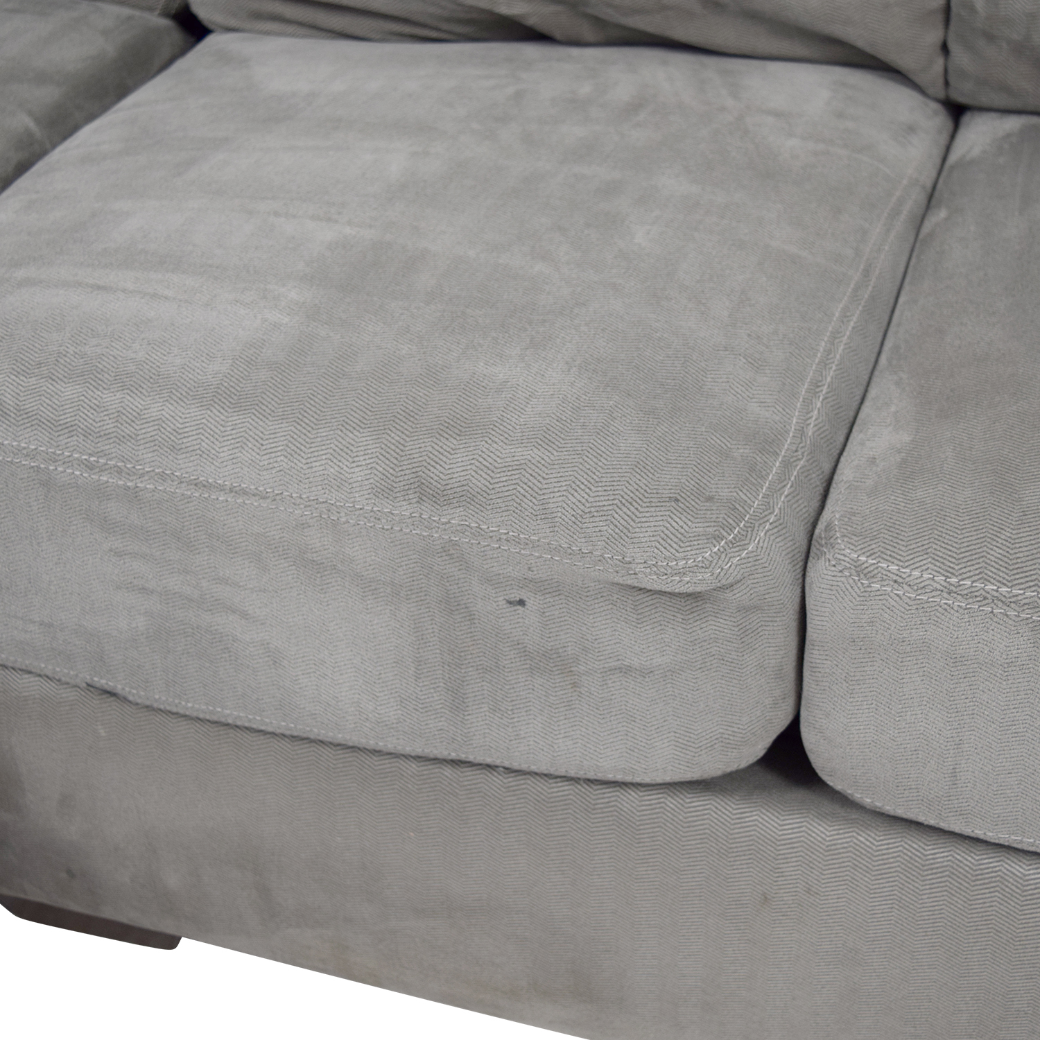 Living Spaces Living Spaces Zella Charcoal Chaise Sectional used