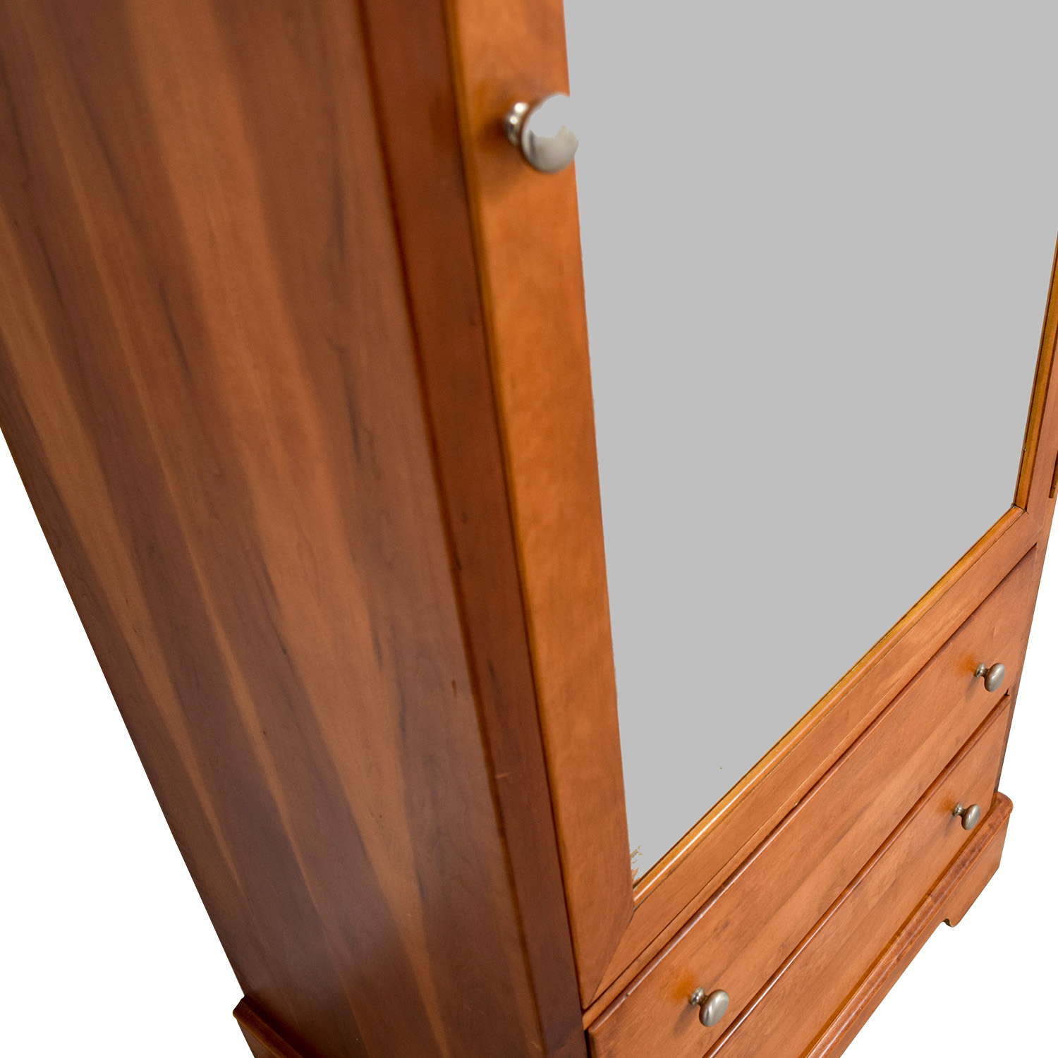 buy Stanley Mirrored Armoire with Two Drawers Stanley Wardrobes & Armoires