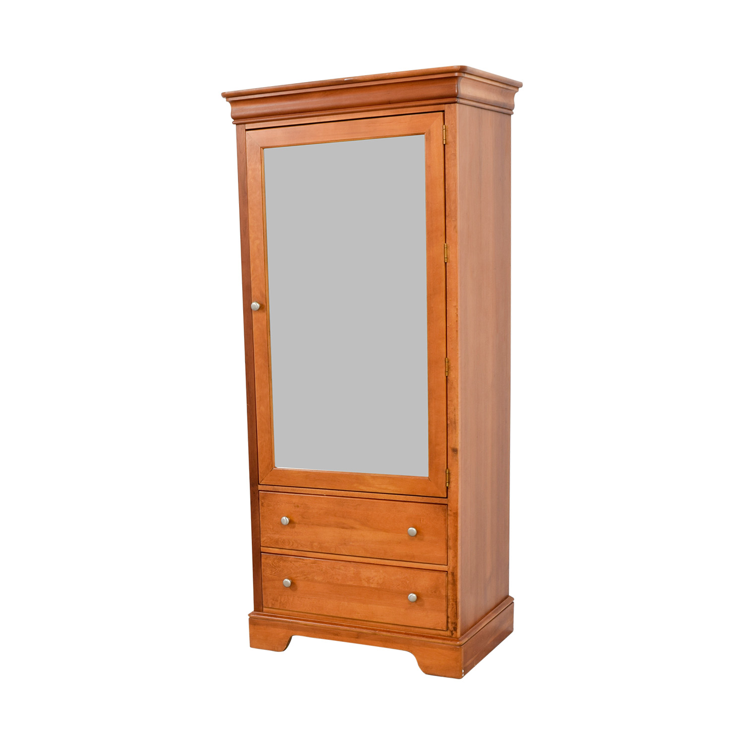 buy Stanley Mirrored Armoire with Two Drawers Stanley Storage