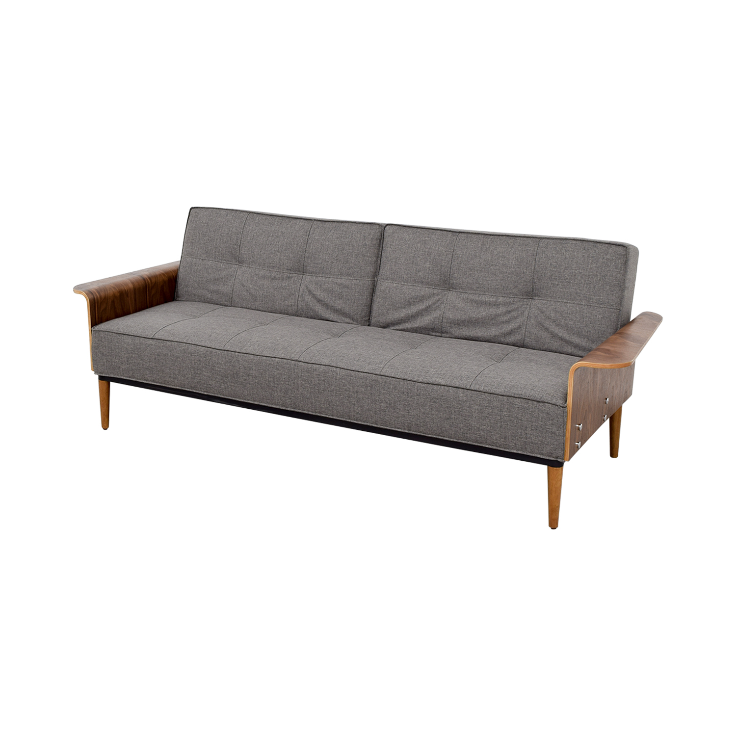 Inmod Inmod Bjorg Tufted Dark Grey Sofabed used