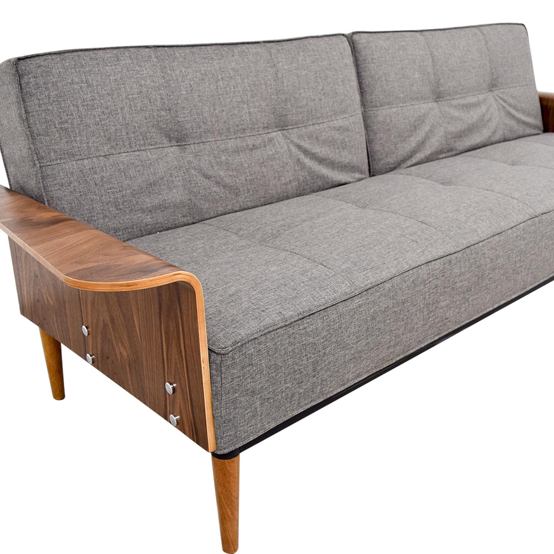 shop Inmod Bjorg Tufted Dark Grey Sofabed Inmod Sofas