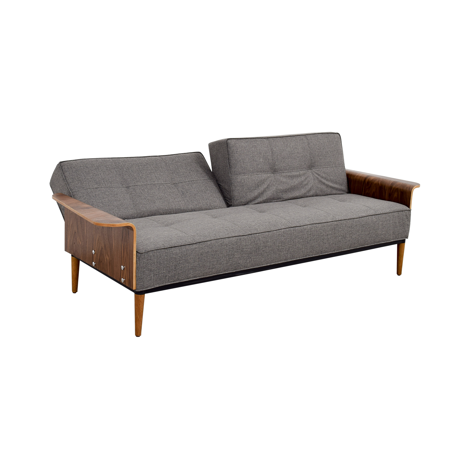 shop Inmod Bjorg Tufted Dark Grey Sofabed Inmod