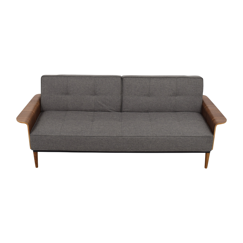 shop Inmod Bjorg Tufted Dark Grey Sofabed Inmod Classic Sofas