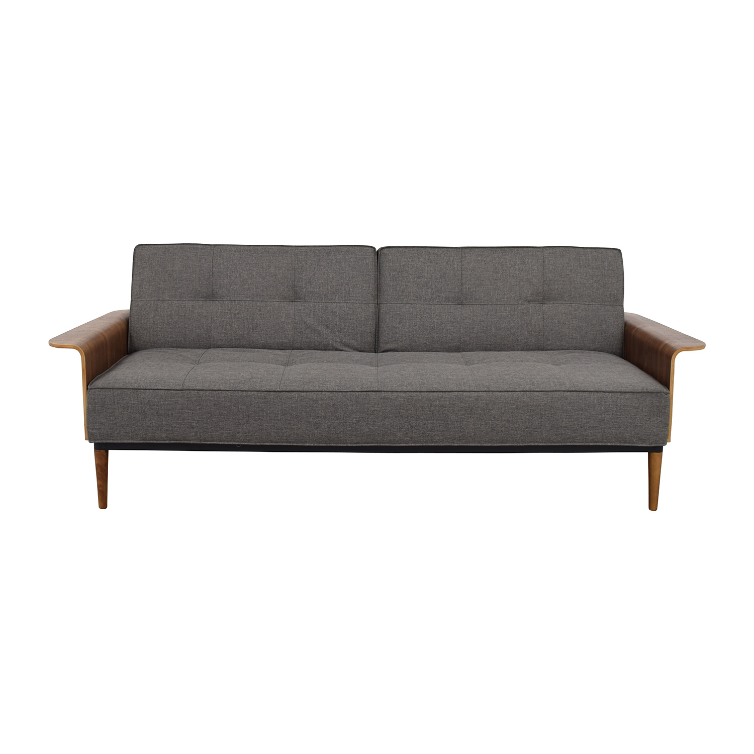 Inmod Bjorg Tufted Dark Grey Sofabed sale