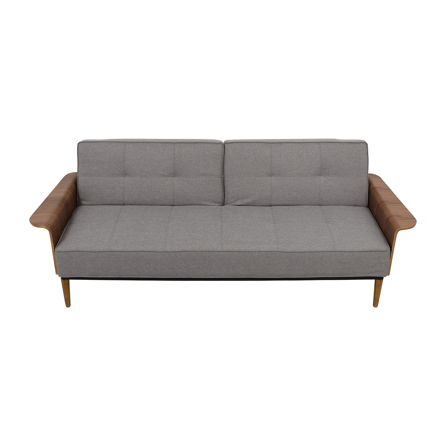 Inmod Inmod Bjorg Tufted Light Grey Sofabed nj