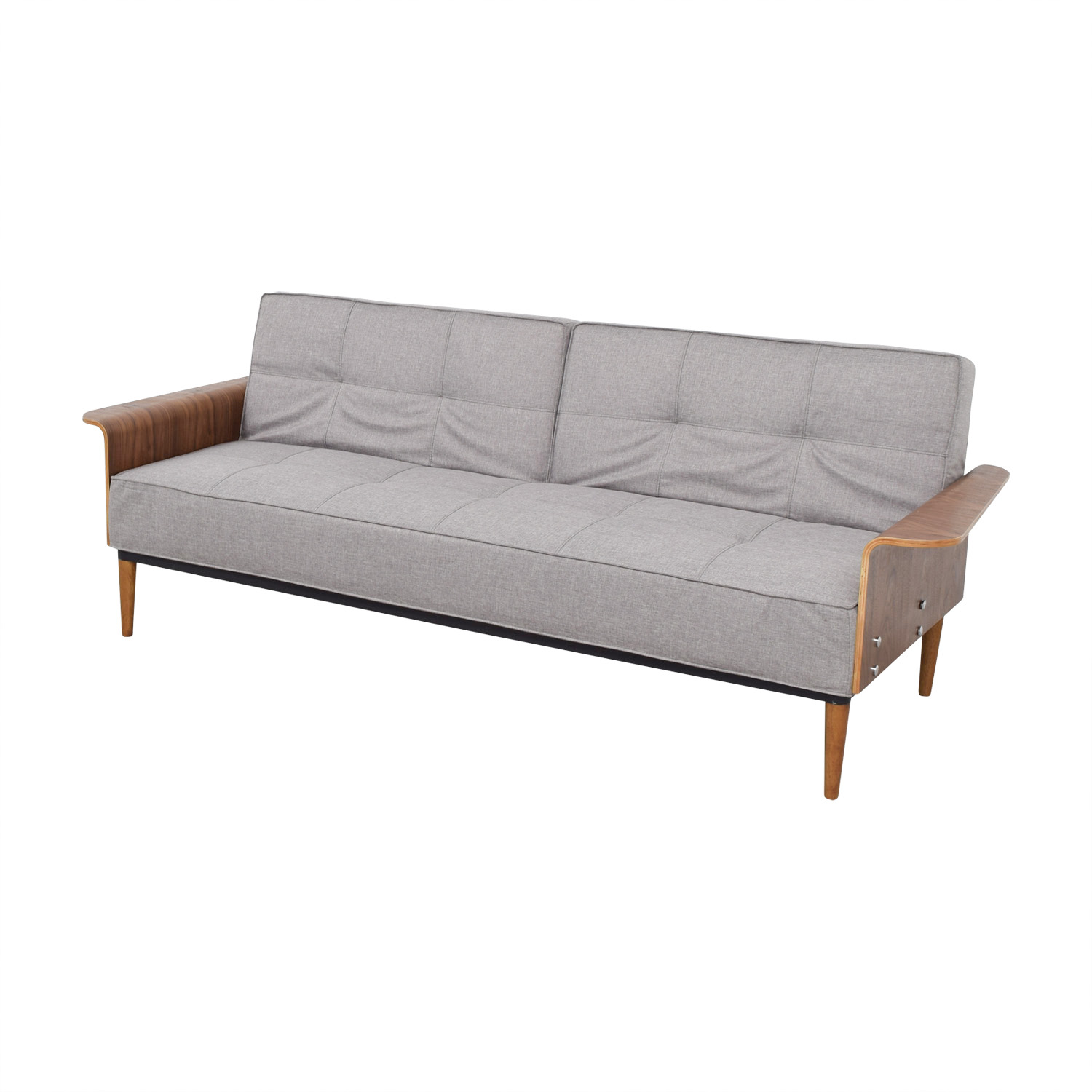 Inmod Bjorg Tufted Light Grey Sofabed Inmod