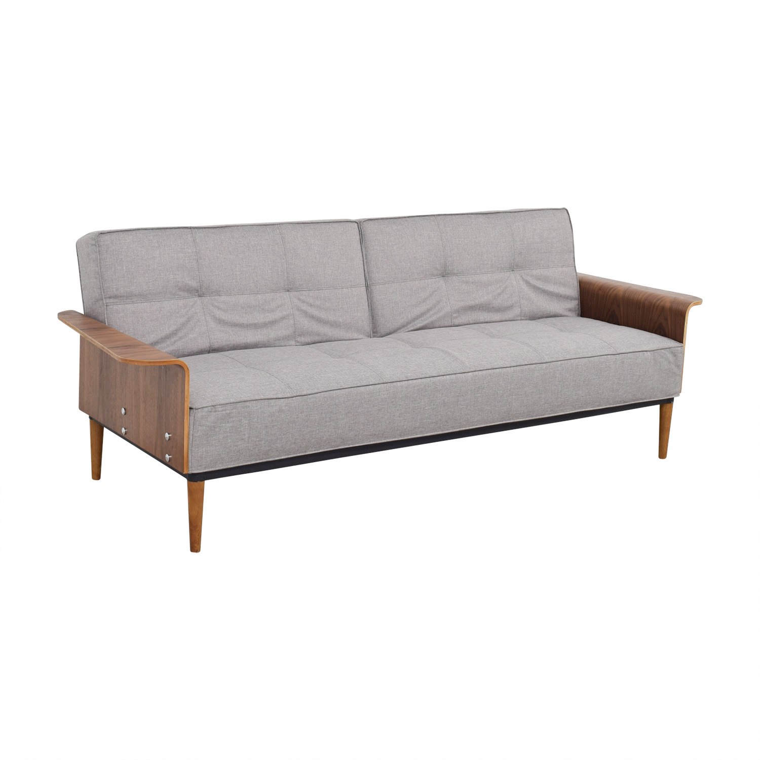 Inmod Inmod Bjorg Tufted Light Grey Sofabed Sofas