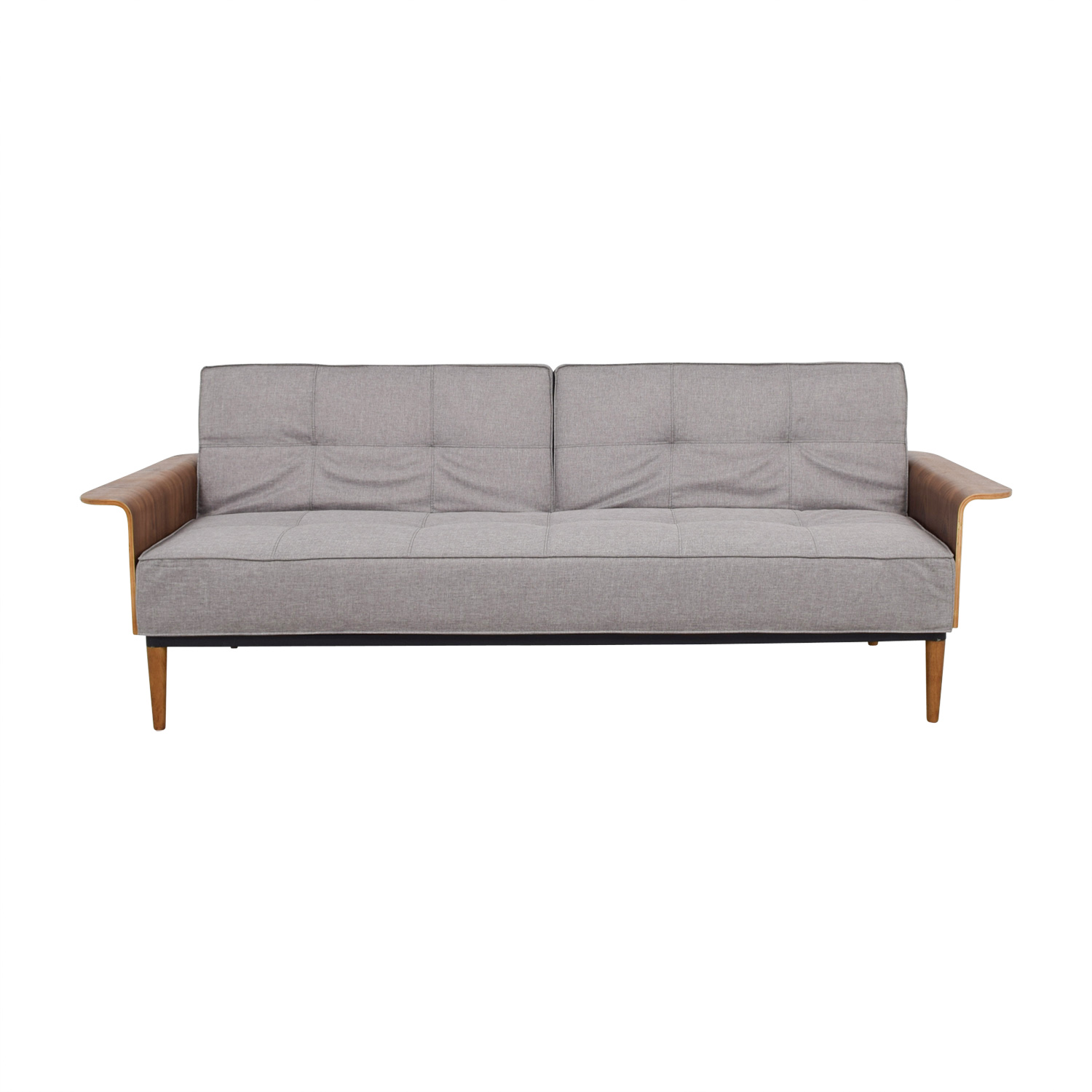 shop Inmod Bjorg Tufted Light Grey Sofabed Inmod Sofas