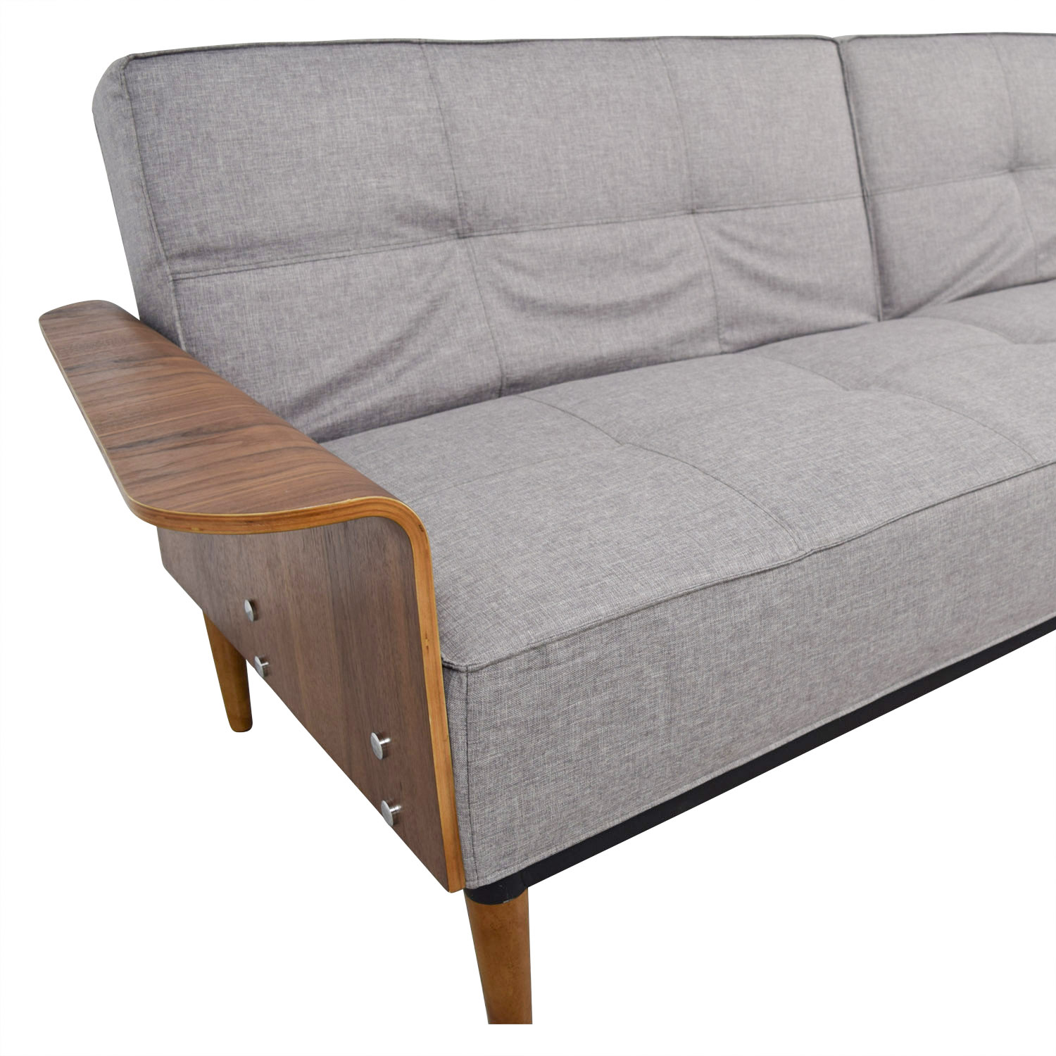 shop Inmod Bjorg Tufted Light Grey Sofabed Inmod
