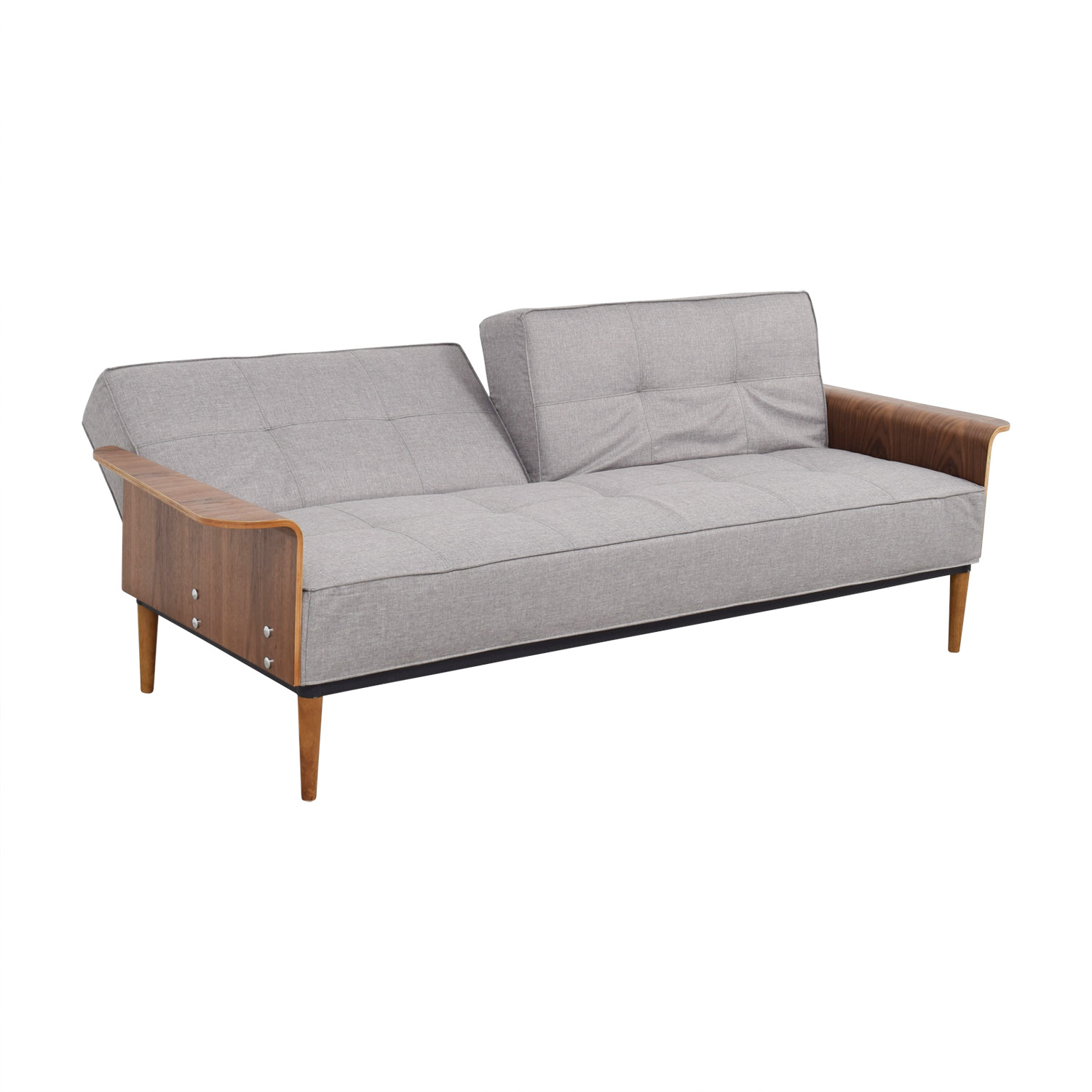 Inmod Bjorg Tufted Light Grey Sofabed / Classic Sofas
