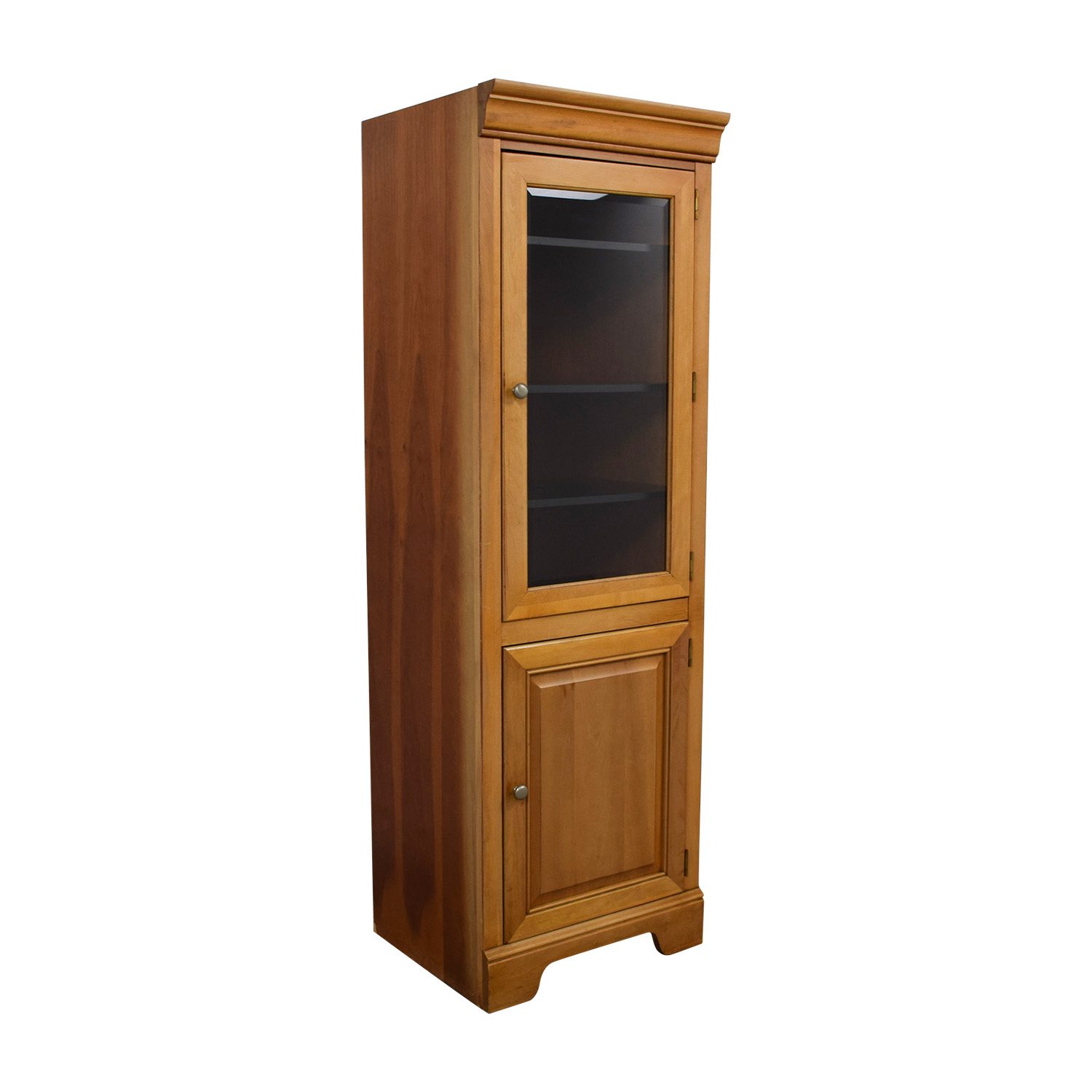 ... Stanley Furniture Company Tall Wood And Glass Cabinet / Cabinets U0026  Sideboards ...