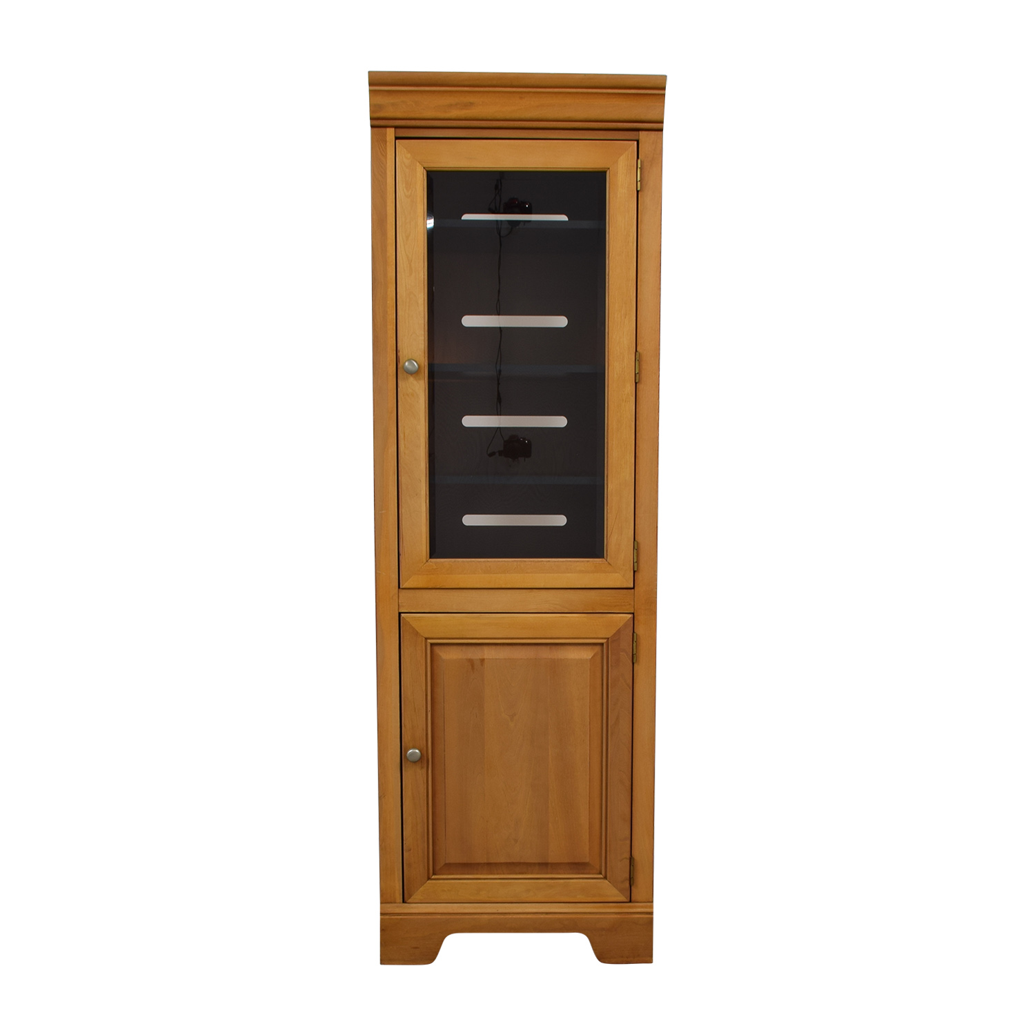 buy Stanley Furniture Company Stanley Furniture Company Tall Wood and Glass Cabinet online