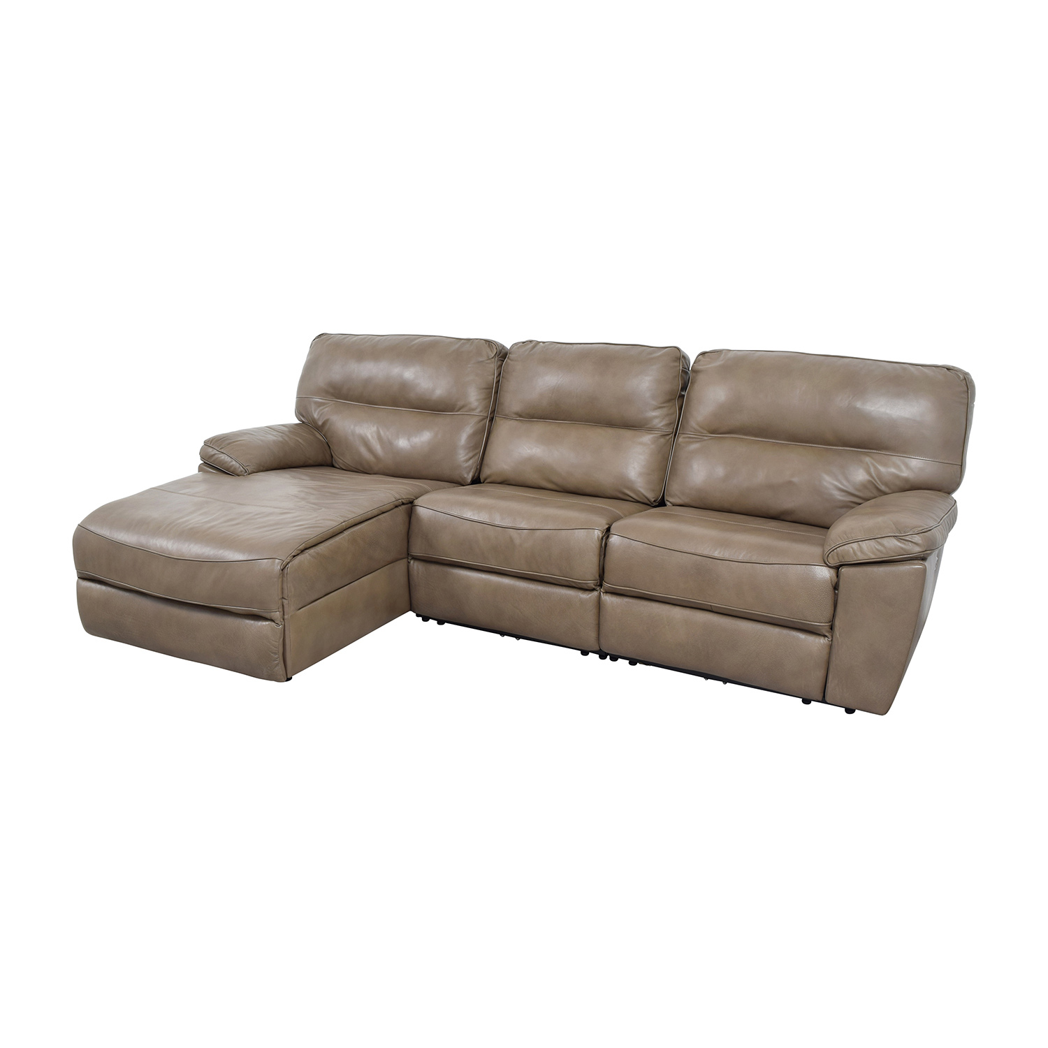 Leather chaise lounge sofa bed cado modern furniture for Black and silver chaise lounge