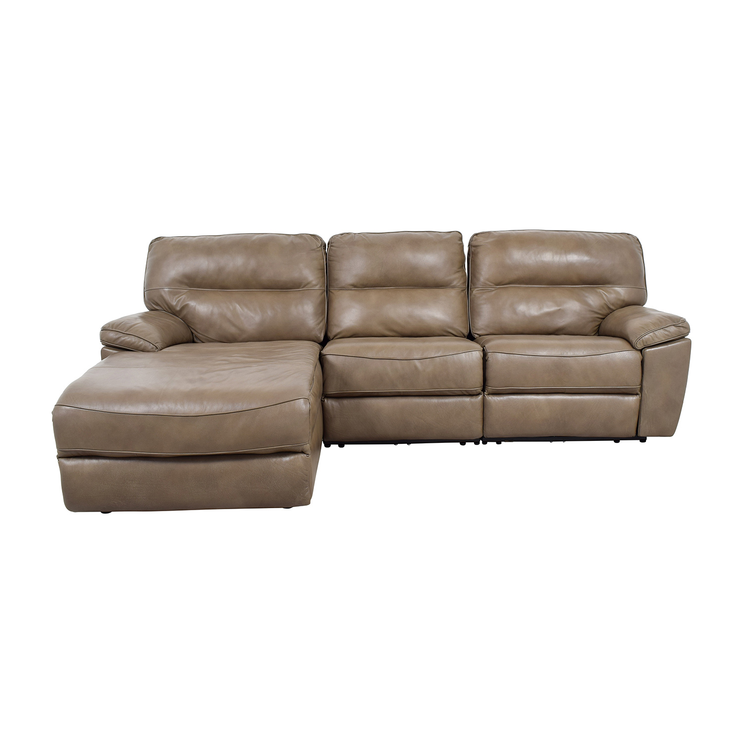 Chaise recliner sofa bed sofa the honoroak for Chaise leather lounge