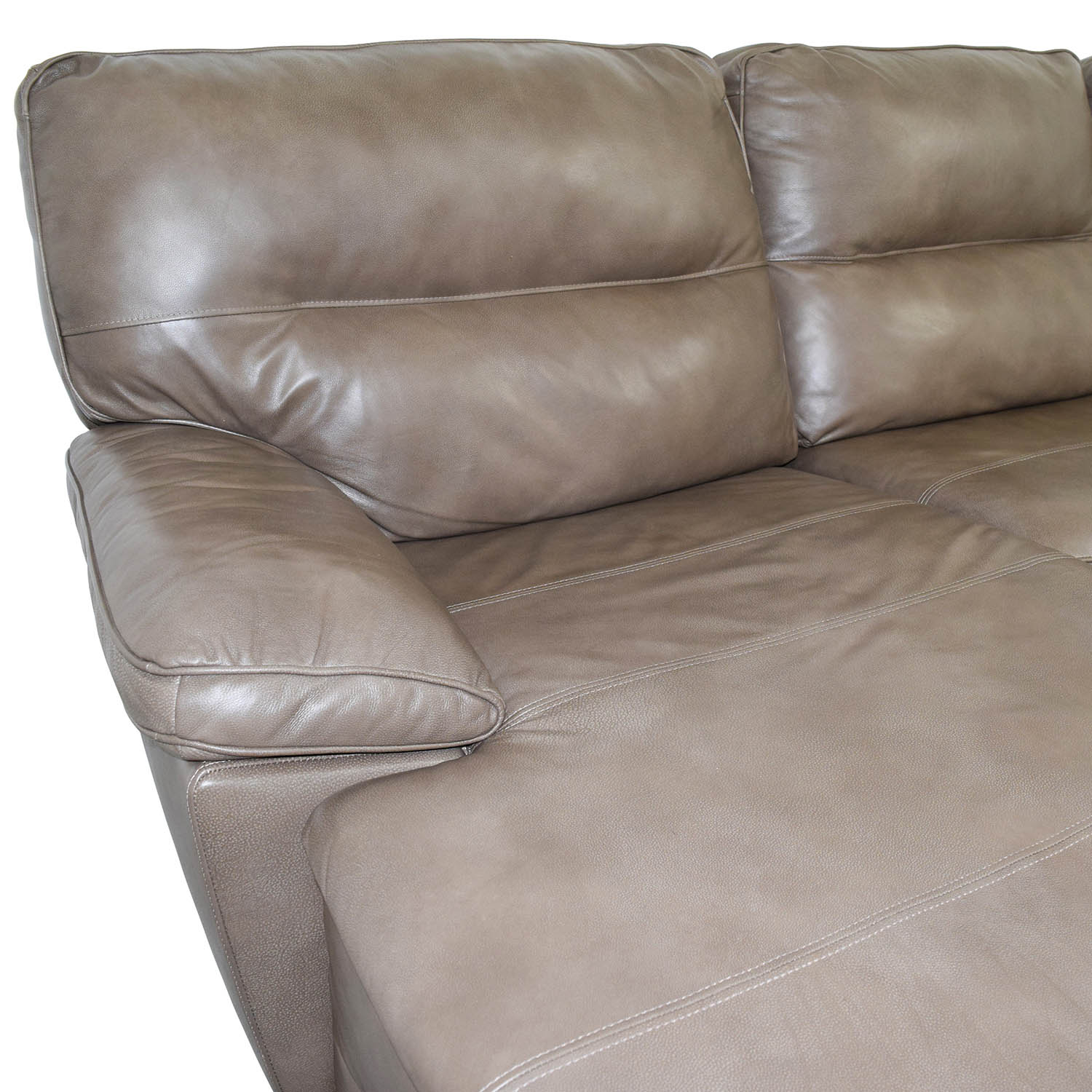 Macys Macys Gunmetal Grey Leather Chaise Lounge Recliner Sofas