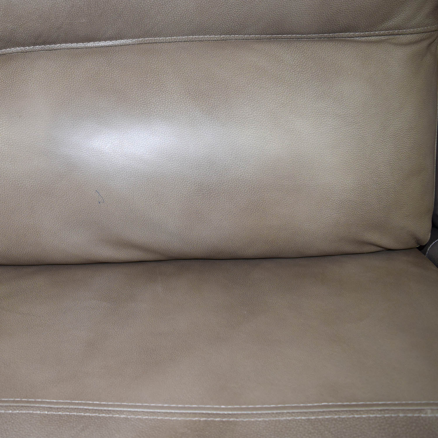 Macys Gunmetal Grey Leather Chaise Lounge Recliner sale
