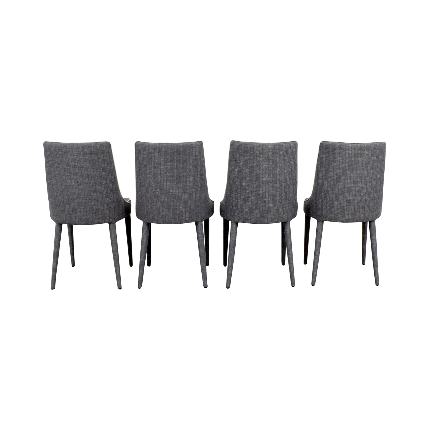 Inmod Inmod Gray Fabric Stools second hand