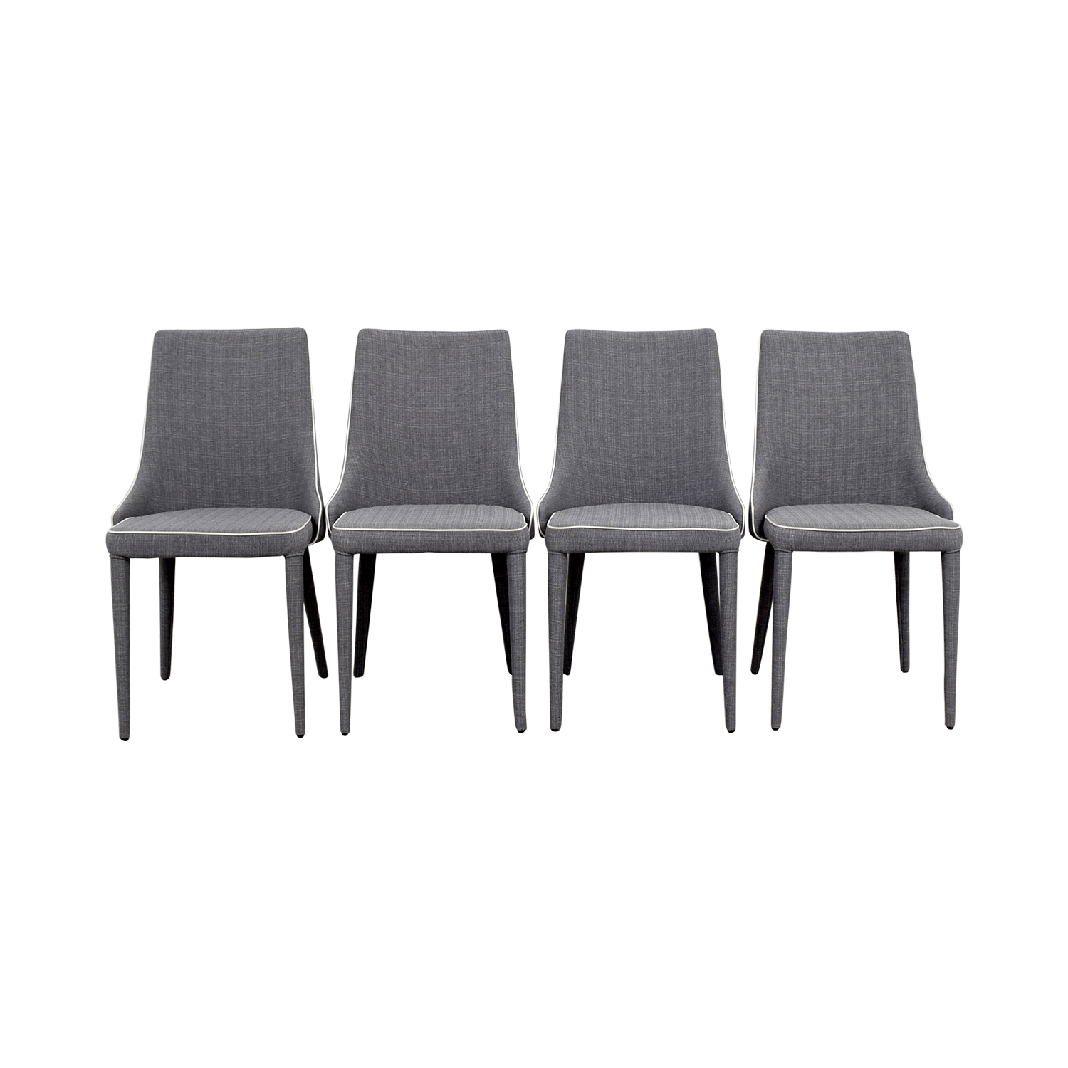 Inmod Inmod Gray Fabric Chairs Dining Chairs