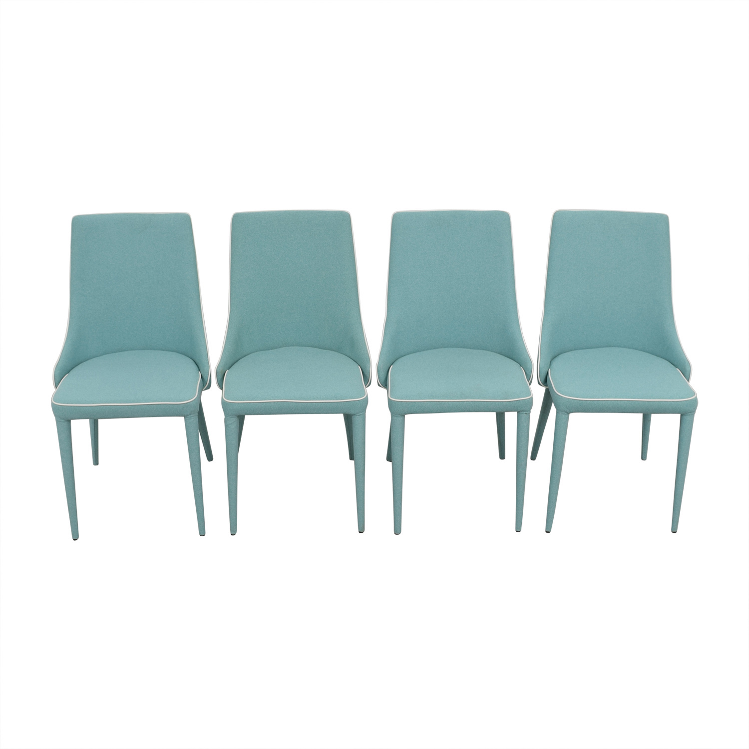Inmod Inmod Turquoise Fabric Chair for sale