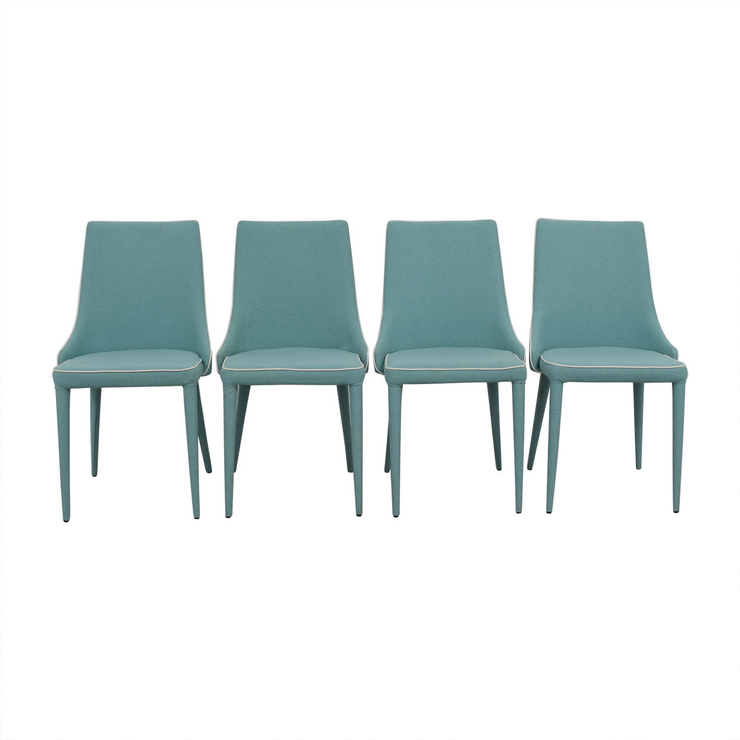buy Inmod Turquoise Fabric Chair Inmod Dining Chairs