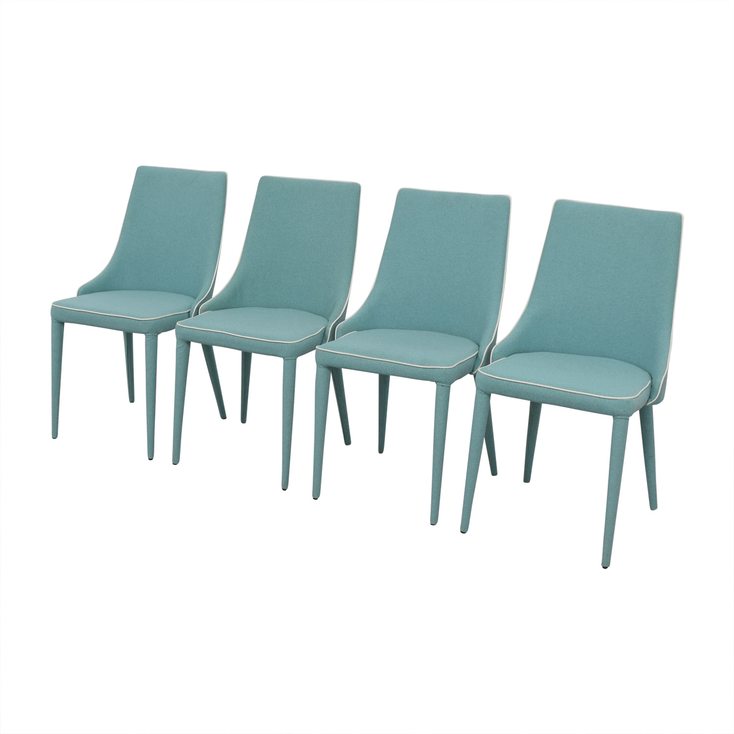 Inmod Inmod Turquoise Fabric Chair used
