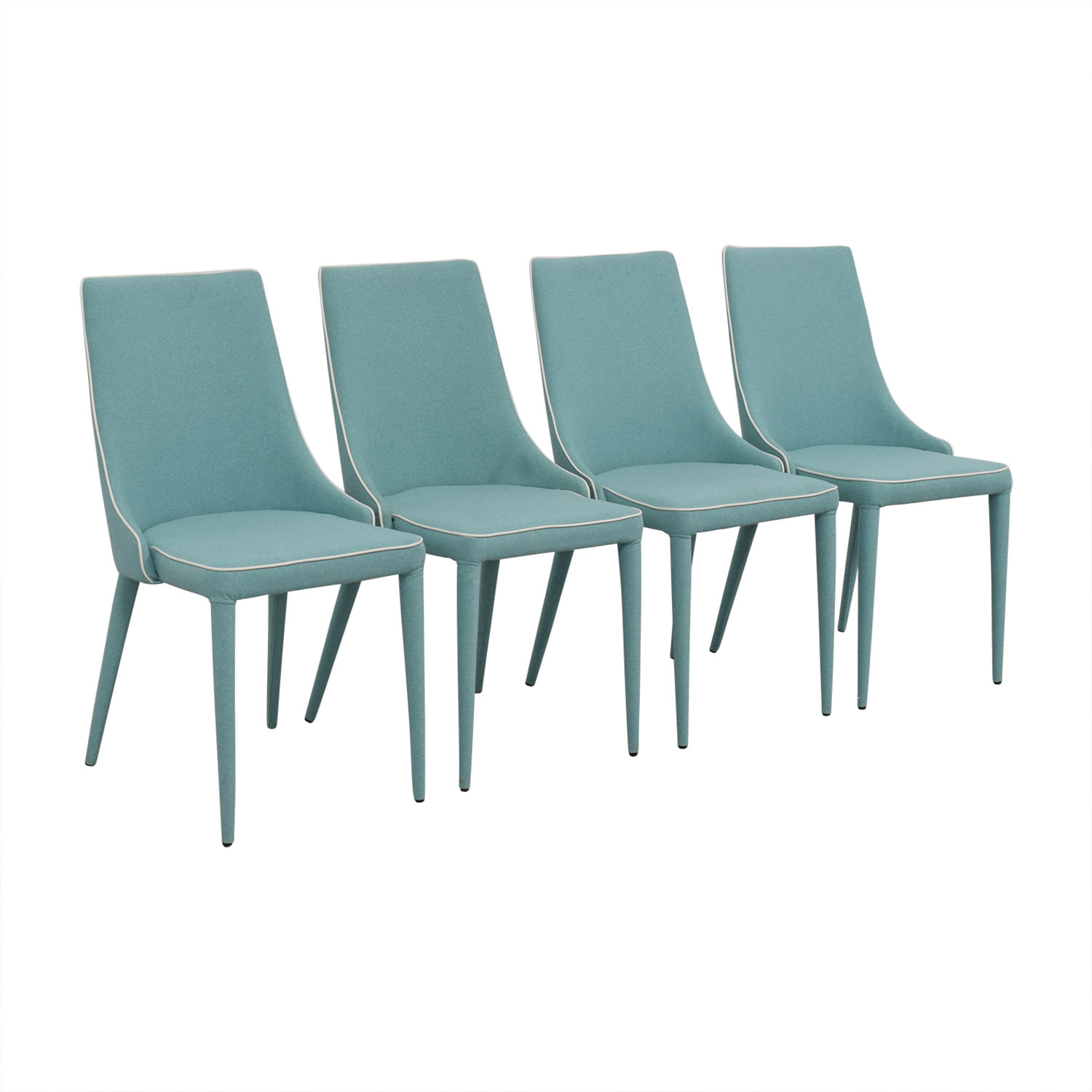 Inmod Inmod Turquoise Fabric Chair