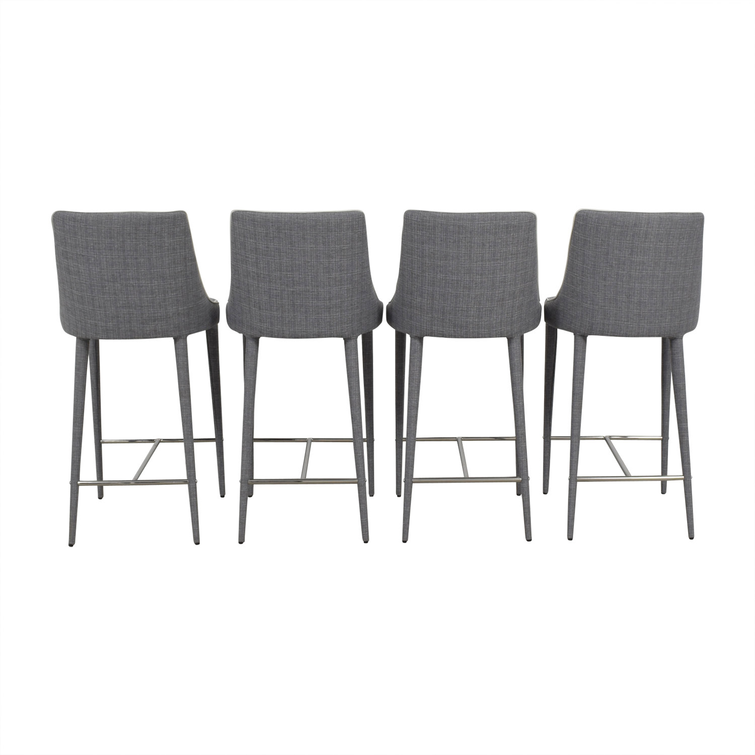 Inmod Inmod Gray Fabric Stools Chairs