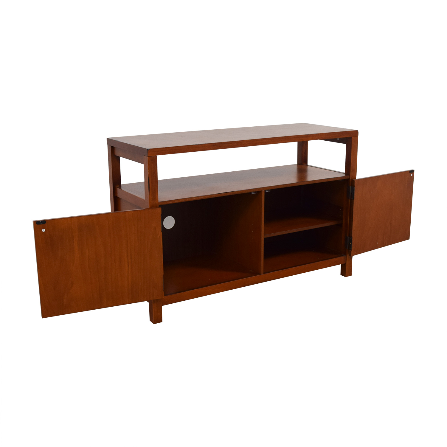 Wood TV Cabinet with Shelves nyc