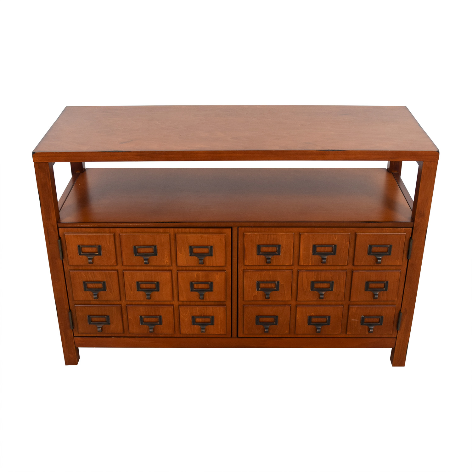 Wood TV Cabinet with Shelves / Media Units
