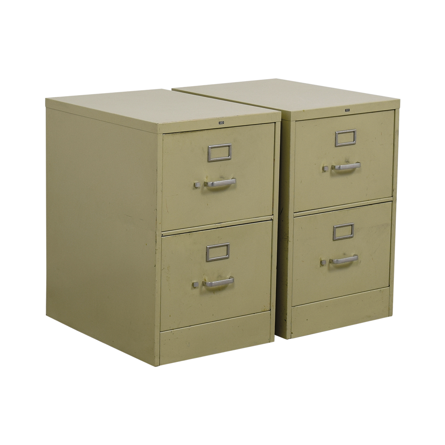 shop Two-Drawer Grey Metal File Cabinets Filing & Bins