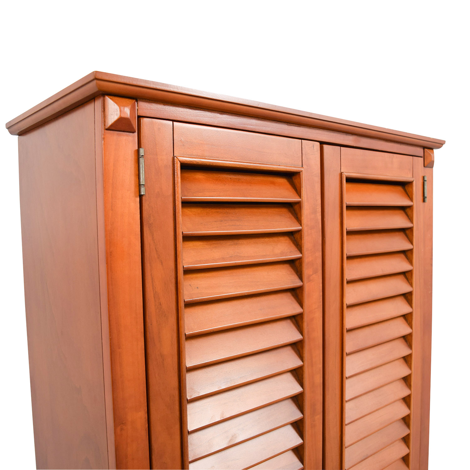 Tall Louvered Door Cabinet / Storage