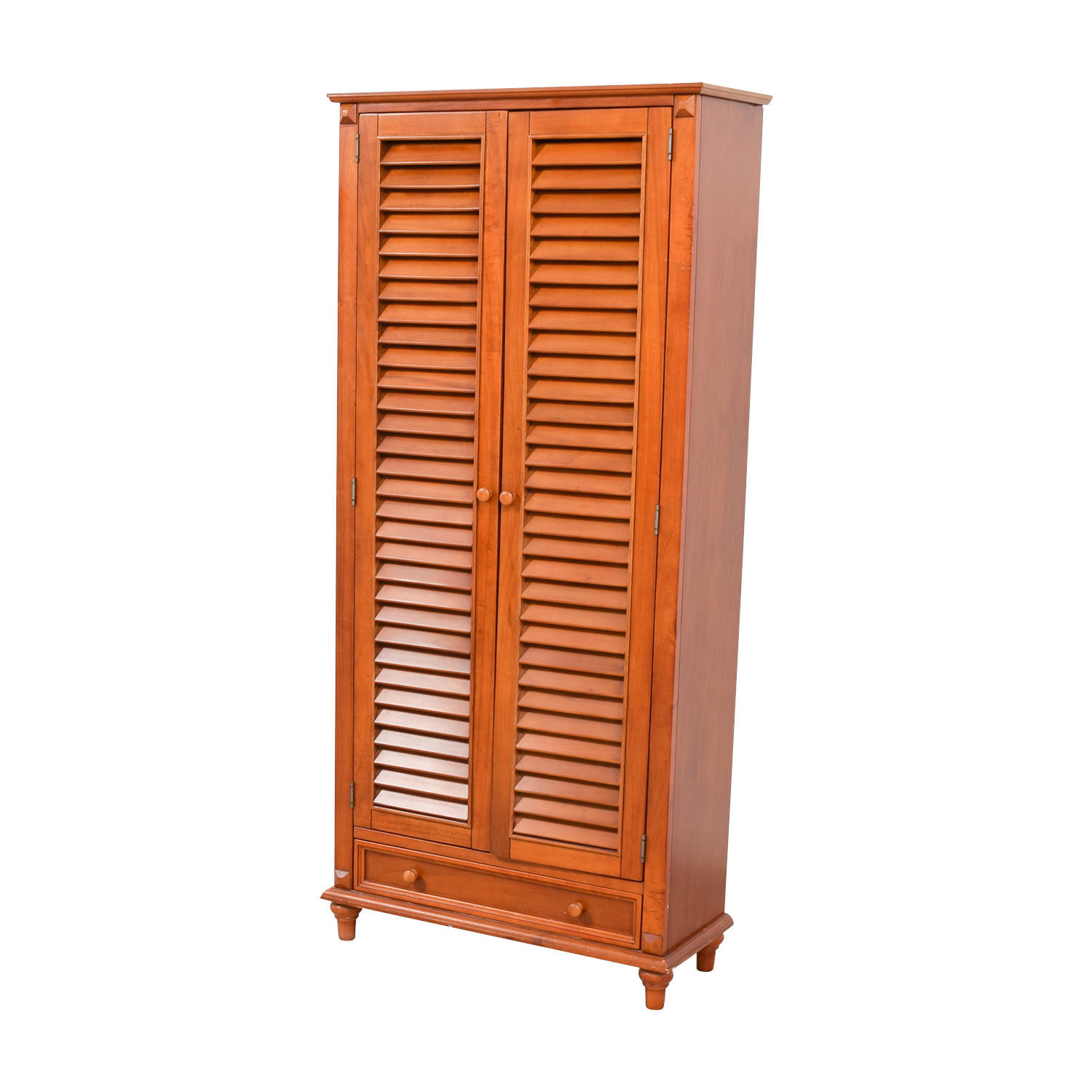 55 Off Tall Louvered Door Cabinet Storage