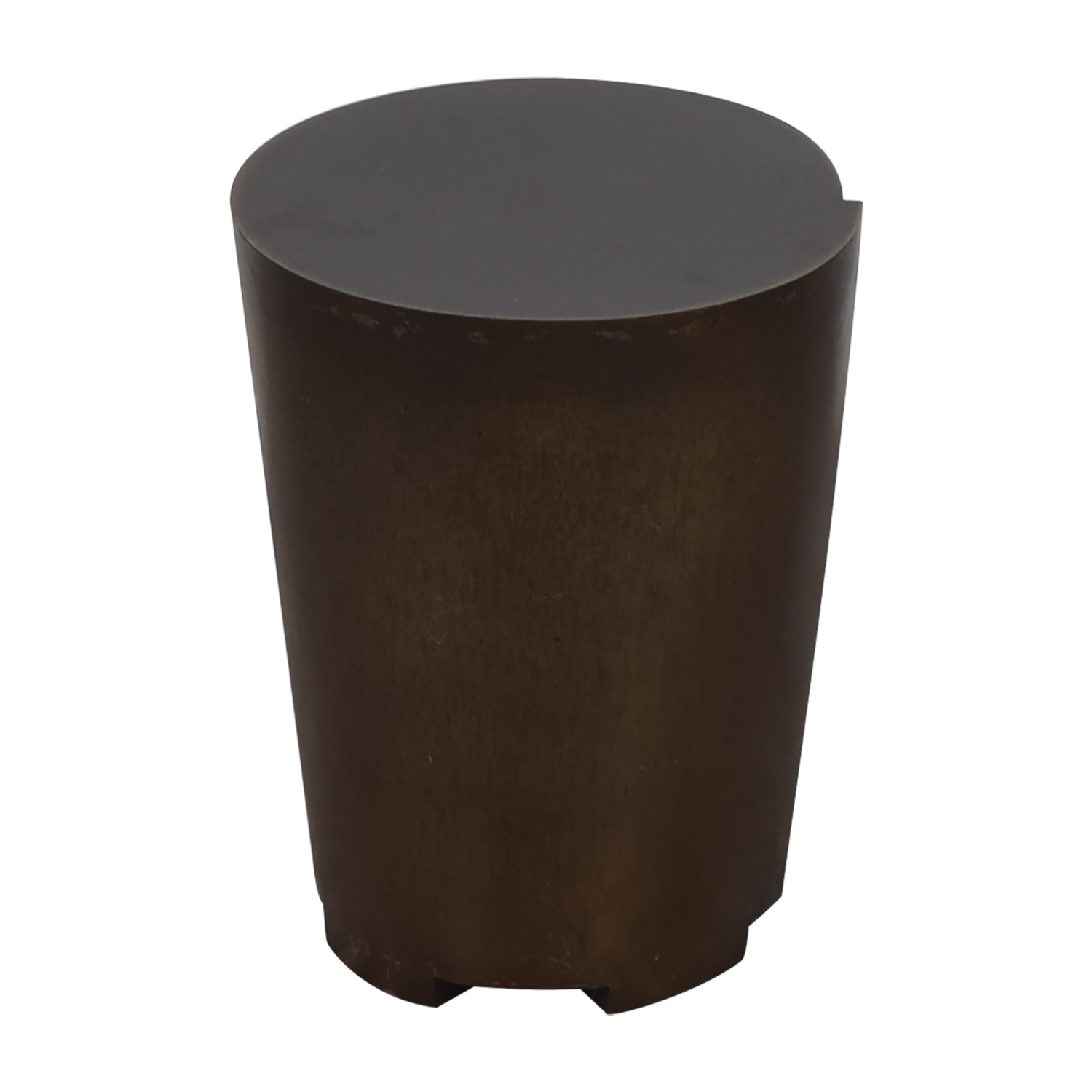 Crate & Barrel Drum Metal Table / Accent Tables