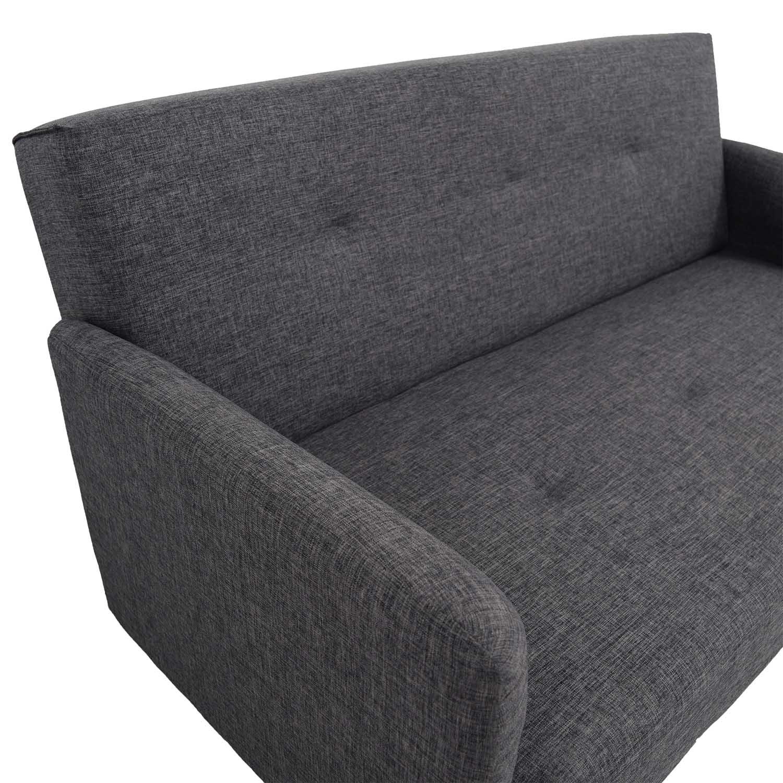 Modern Grey Single Cushion Sofa / Classic Sofas