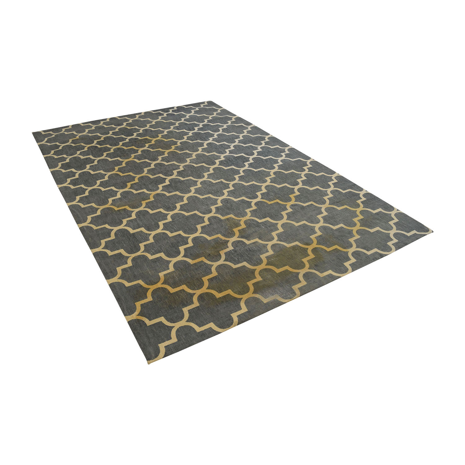 buy World Market Moroccan Green and White Rug World Market