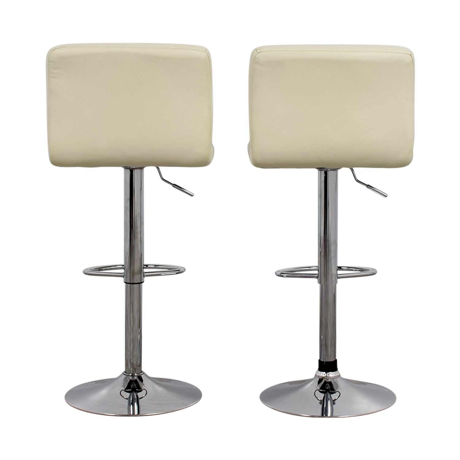 Creme and Chrome Tufted Bar Stools discount