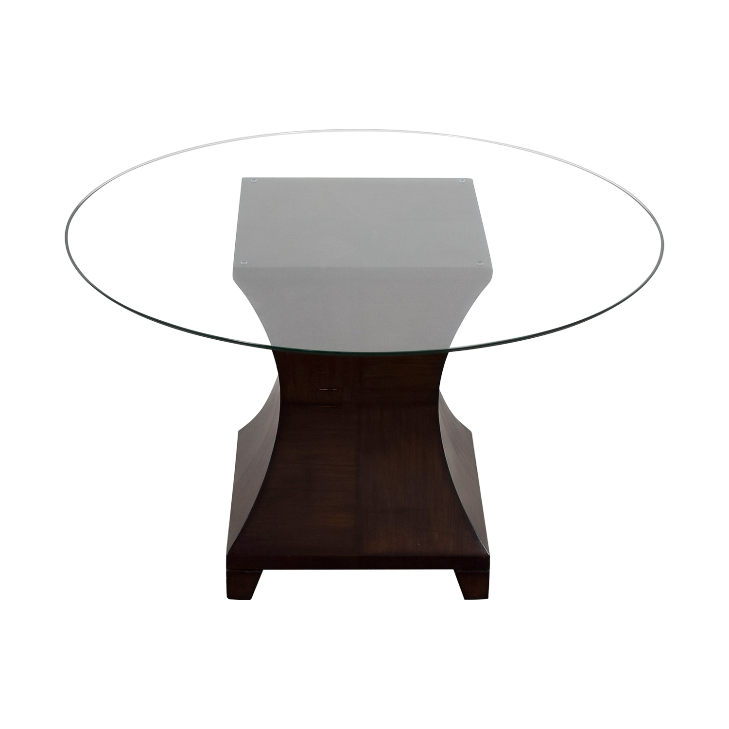 Round Glass Top Dining Table second hand