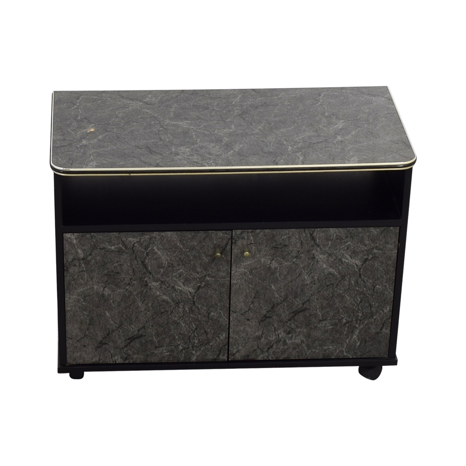 Marbleized Brown Entertainment Center