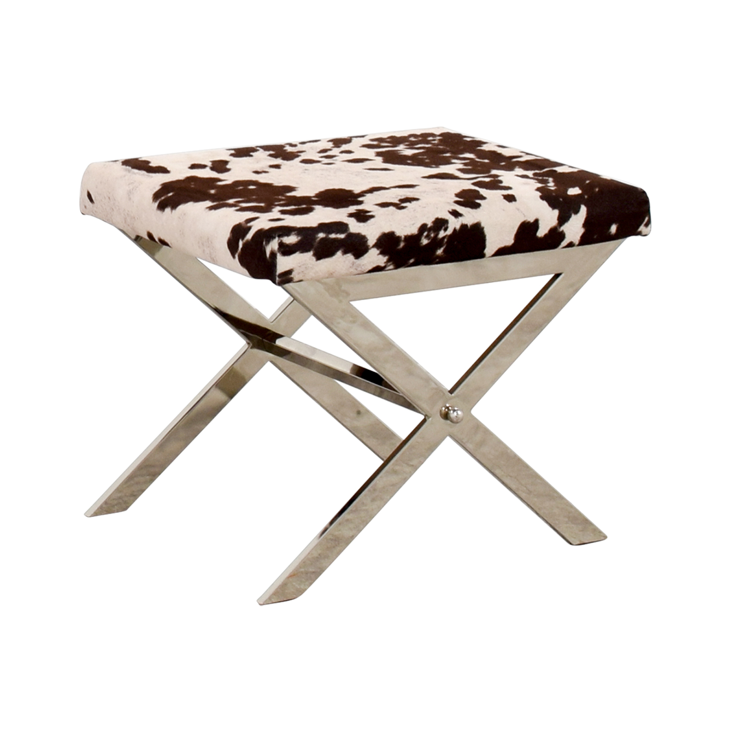 Awe Inspiring 68 Off Black And White Cow Print Stool Chairs Dailytribune Chair Design For Home Dailytribuneorg