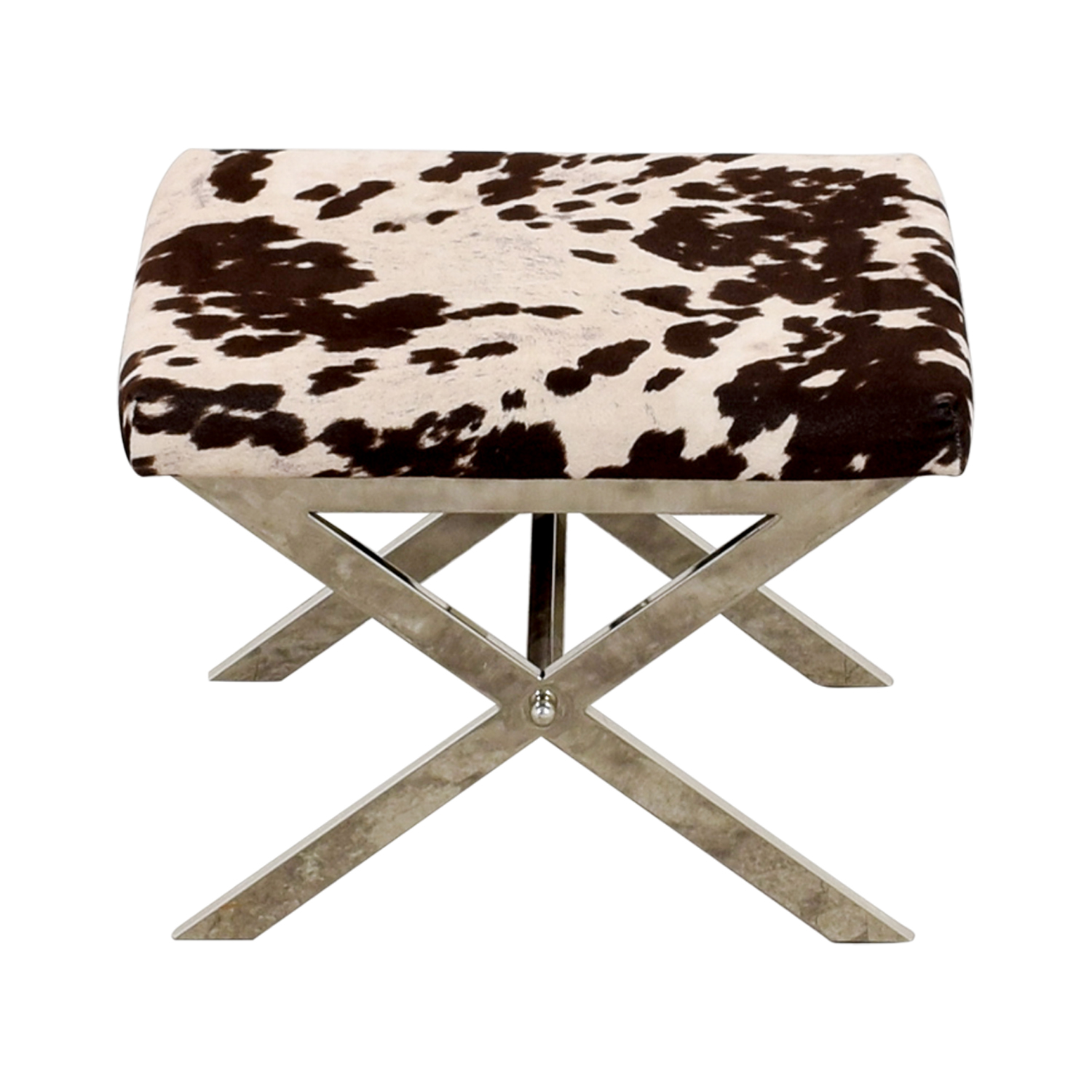 Black and White Cow Print Stool discount