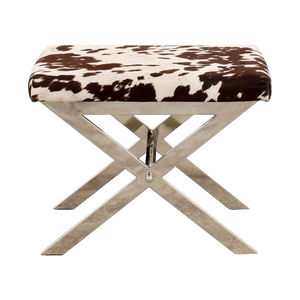 buy  Black and White Cow Print Stool online