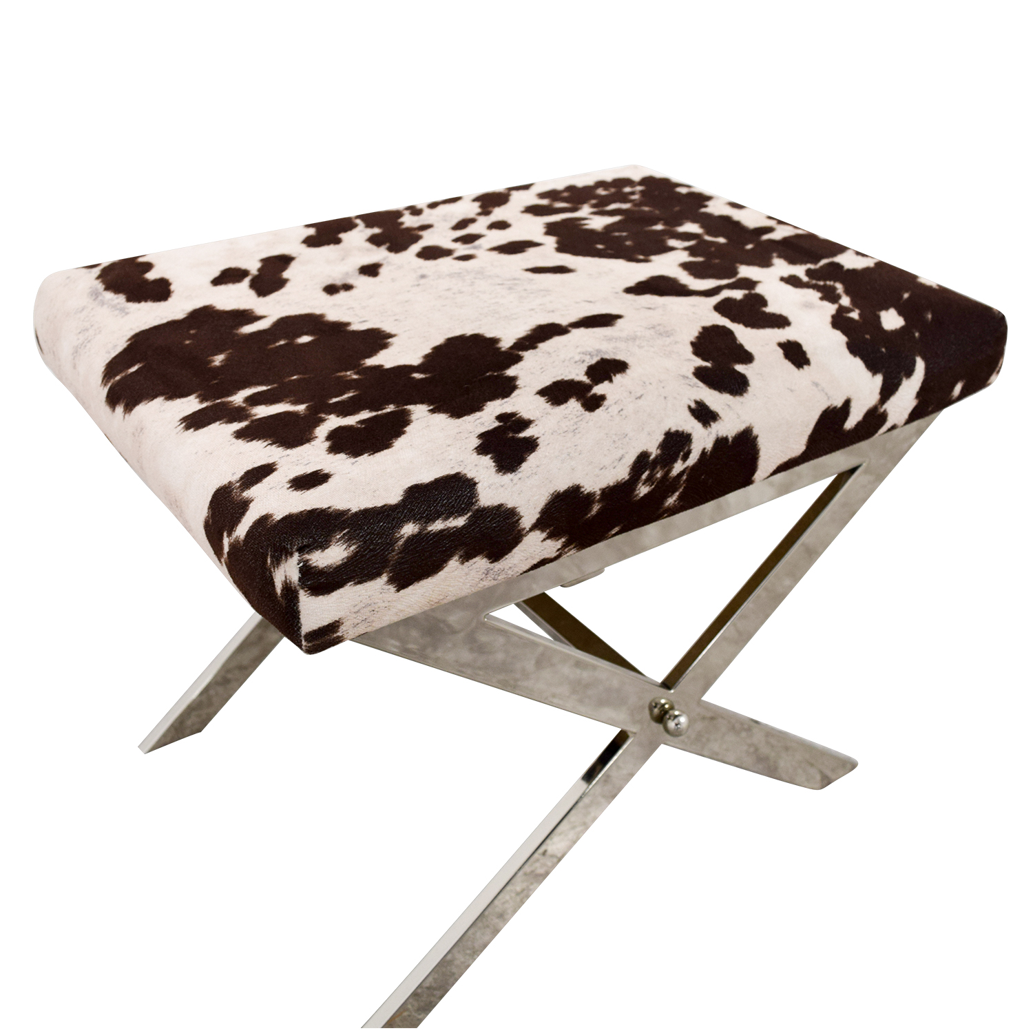 shop Black and White Cow Print Stool