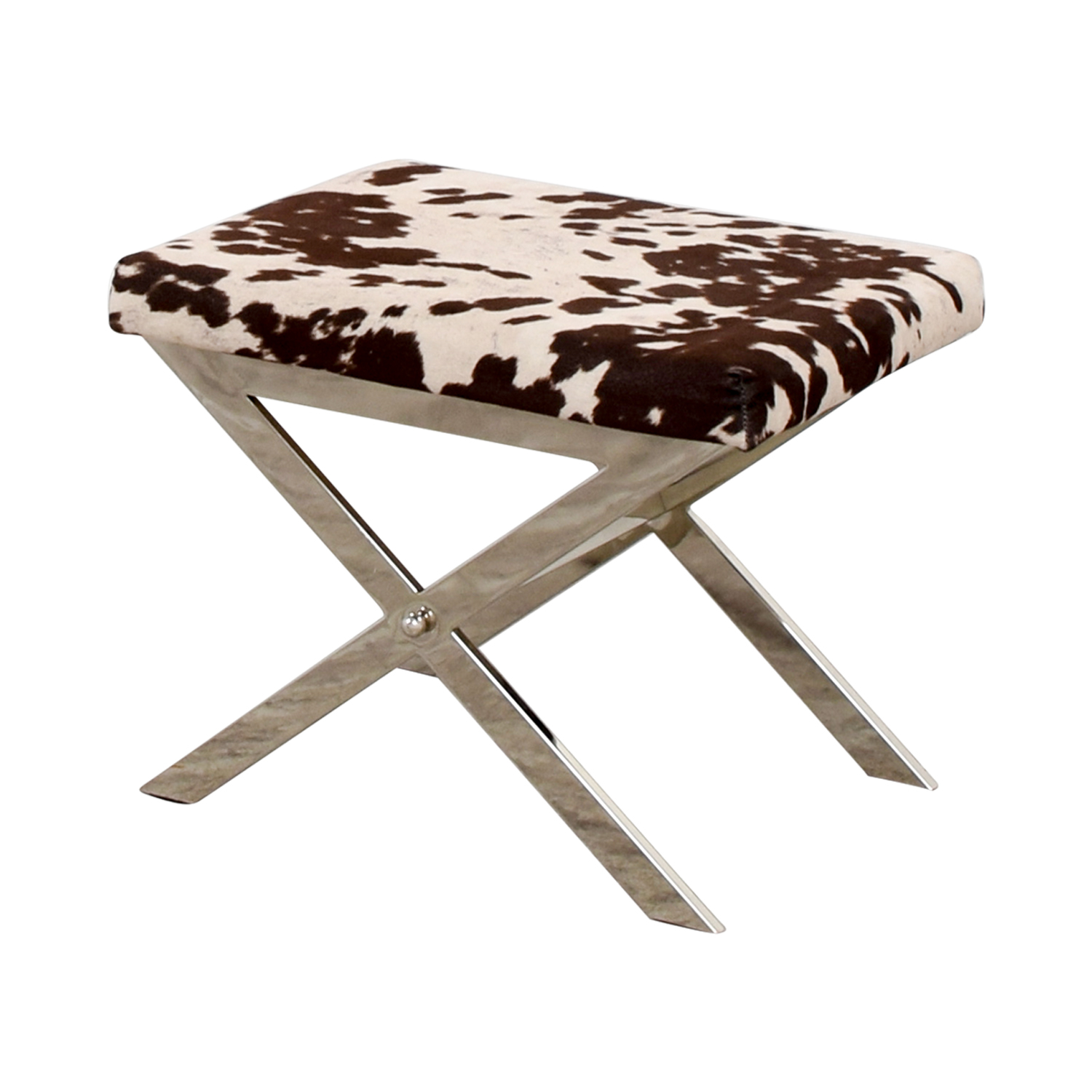 Swell 68 Off Black And White Cow Print Stool Chairs Dailytribune Chair Design For Home Dailytribuneorg