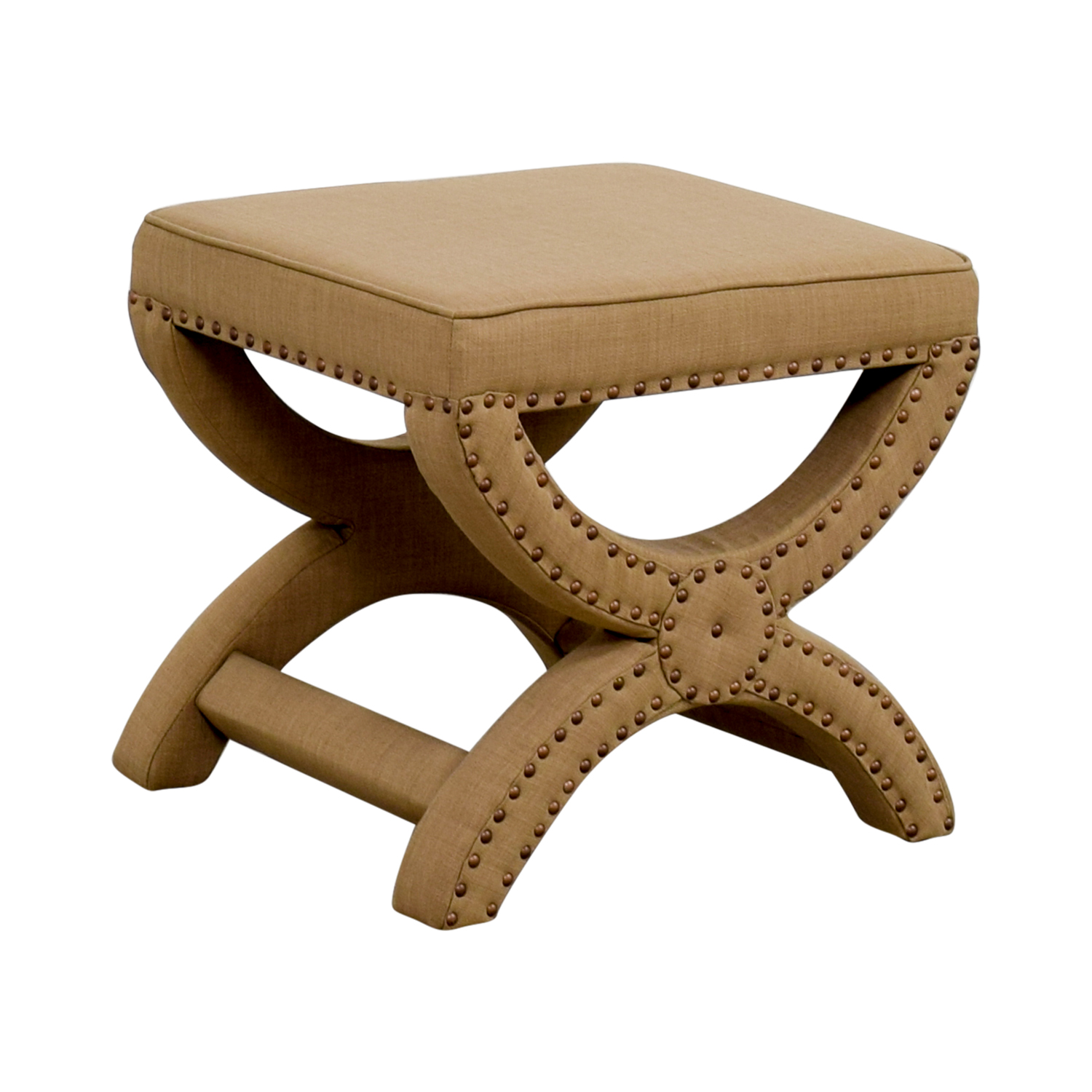 Abbyson Abbyson Studded Stool tan