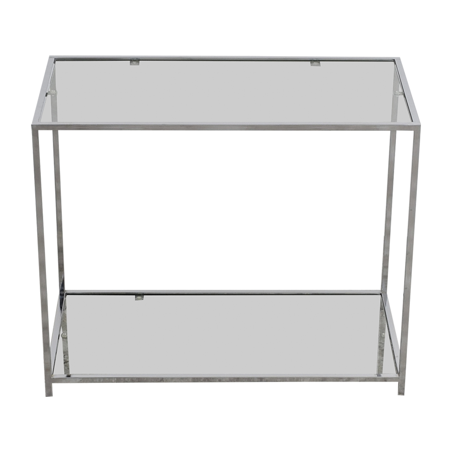Metal and Glass Console Table / Storage